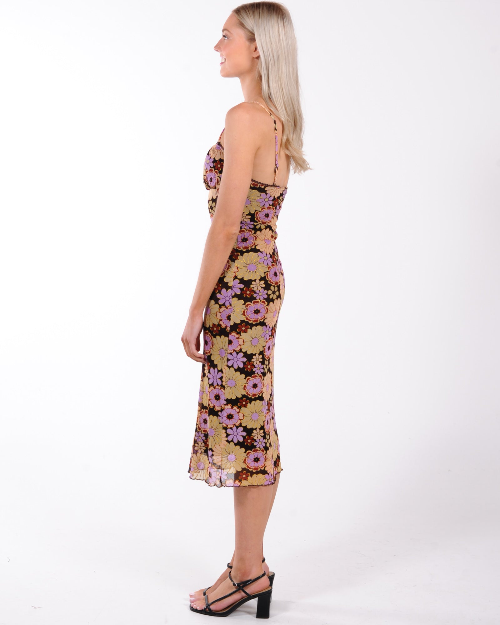 Lets Make Plans Midi Dress - Floral