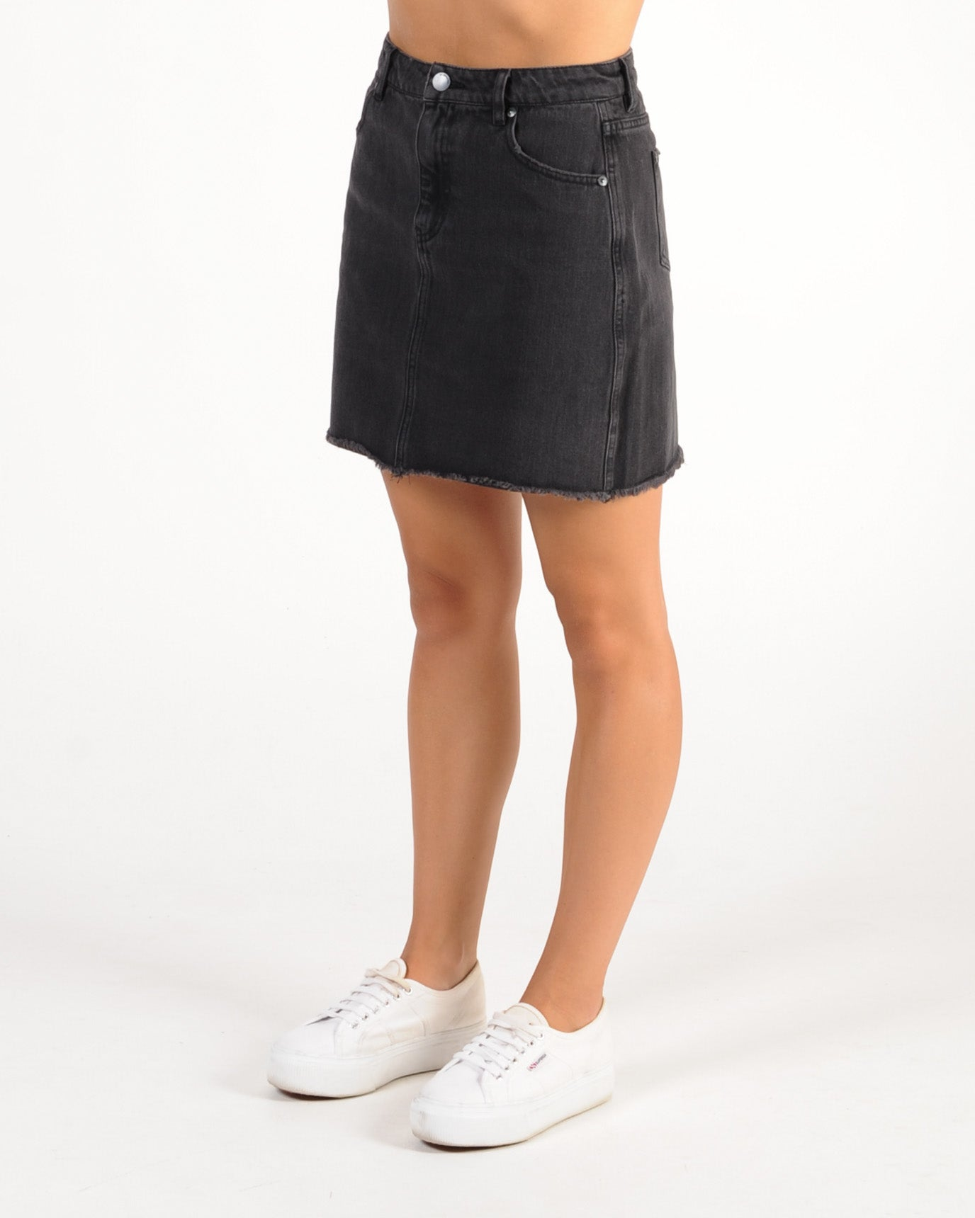 All About Eve Isla Denim Skirt - Black Denim