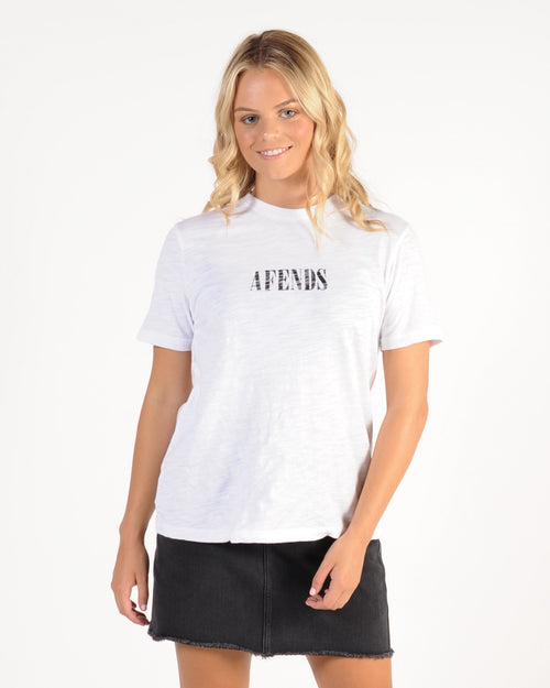 Afends Lithium Fashion Tee - White