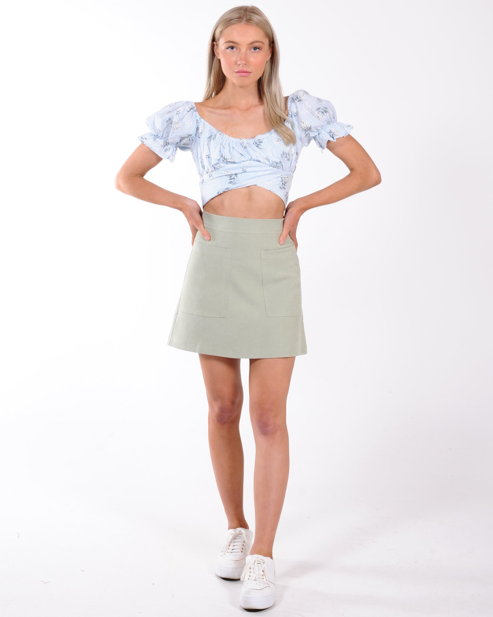Vacation Mini Skirt - Sage