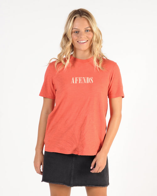 Afends Lithium Fashion Tee - Sienna Red