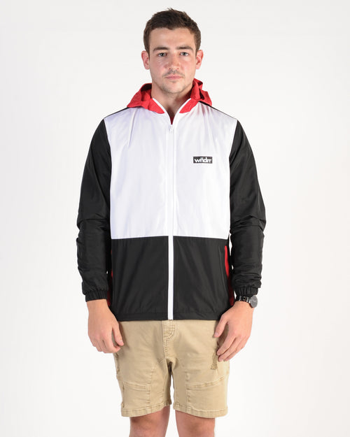 Wndrr Mind Breaker Spray Jacket - Black/White/Red