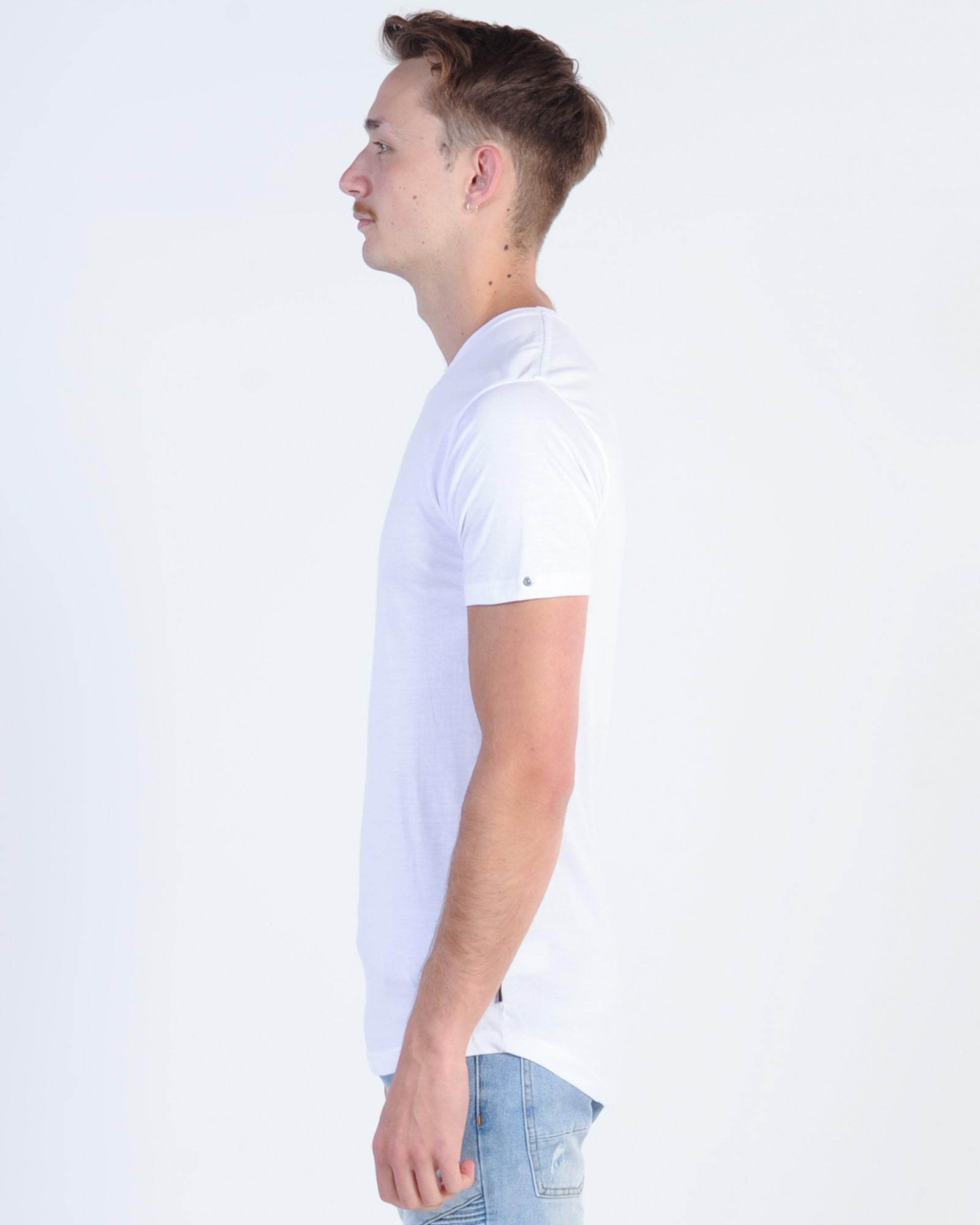 Silent Theory Theory Tail Tee - White
