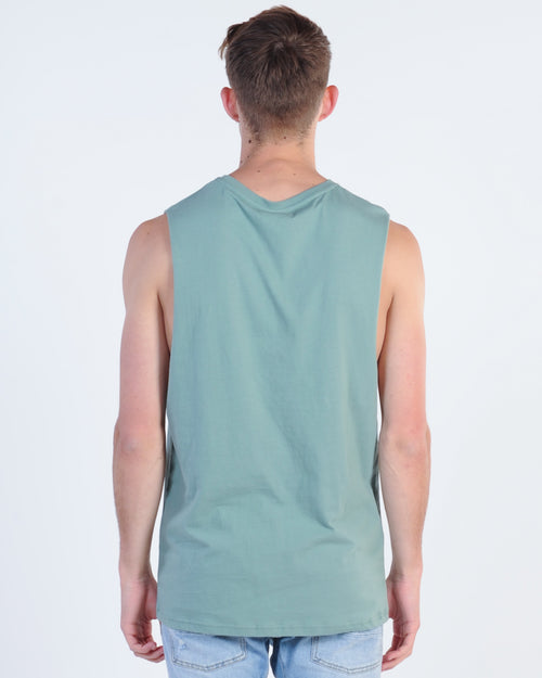 Wndrr Overturned Muscle Top- Olive