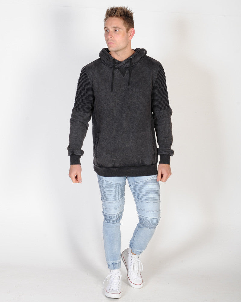 NANA JUDY PRECINCT HOODED SWEAT - ACID BLACK