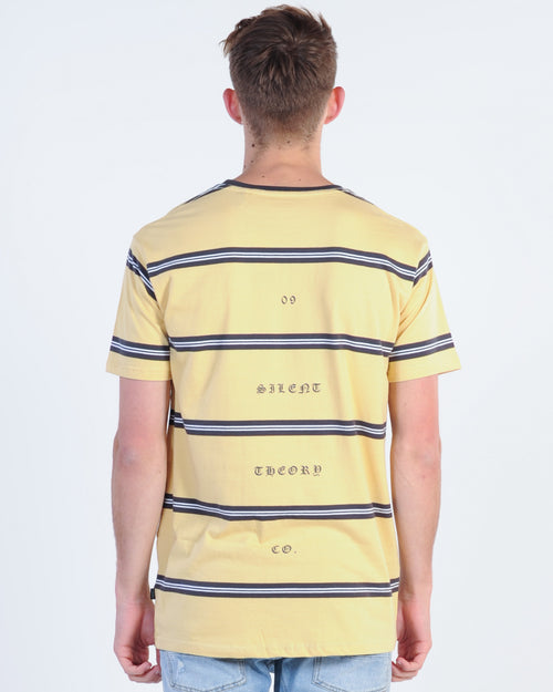 Silent Theory Damned Stripe Tee - Lemon