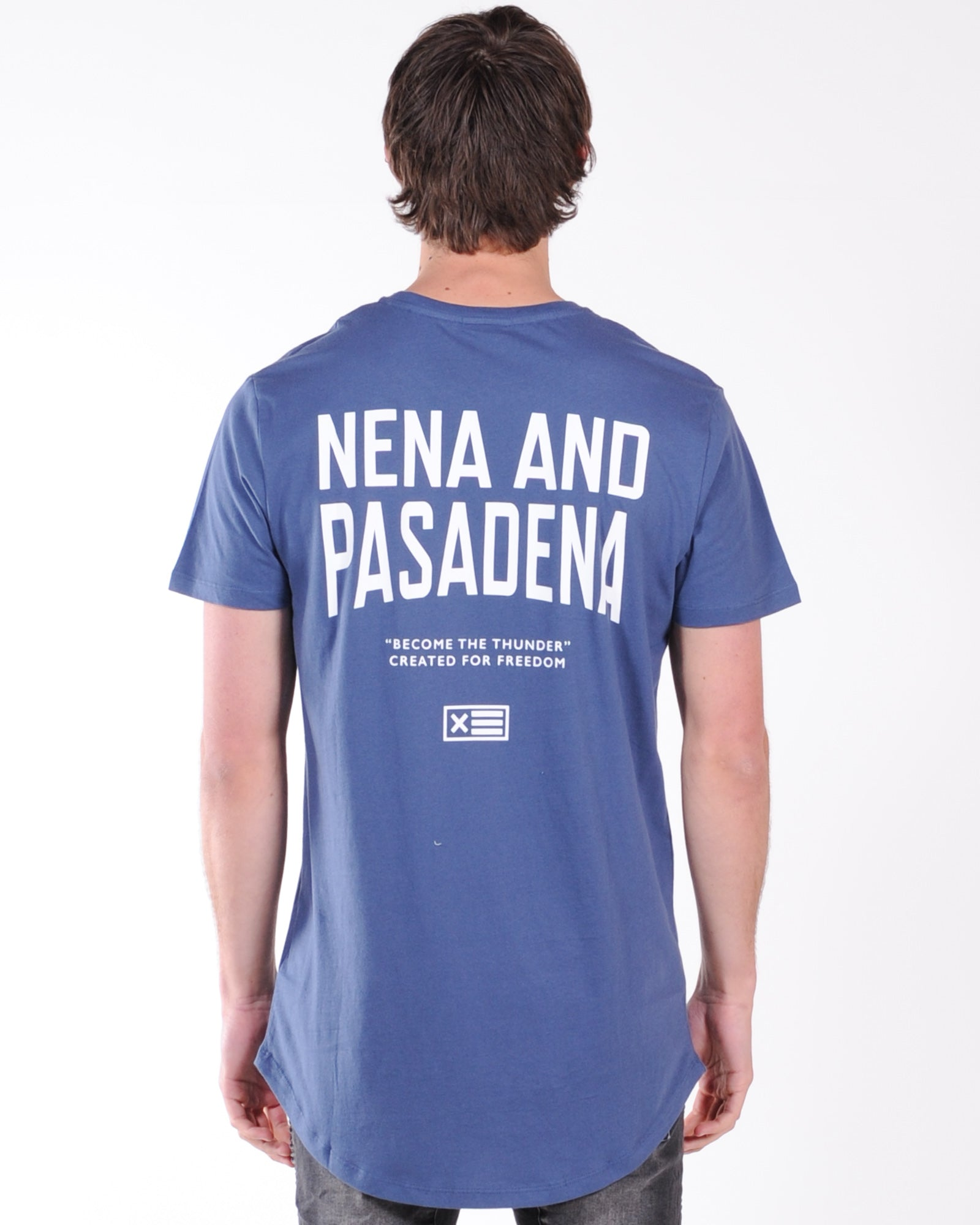 Nena & Pasadena Richardson Cape Back Tee - Navy