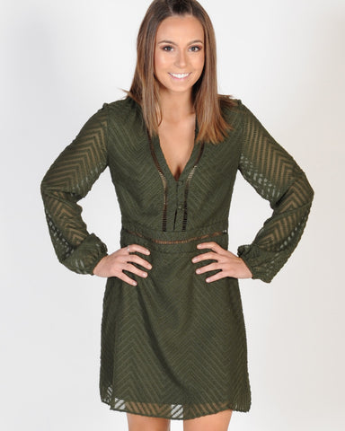 MADISON SQUARE POPPY DRESS - KHAKI