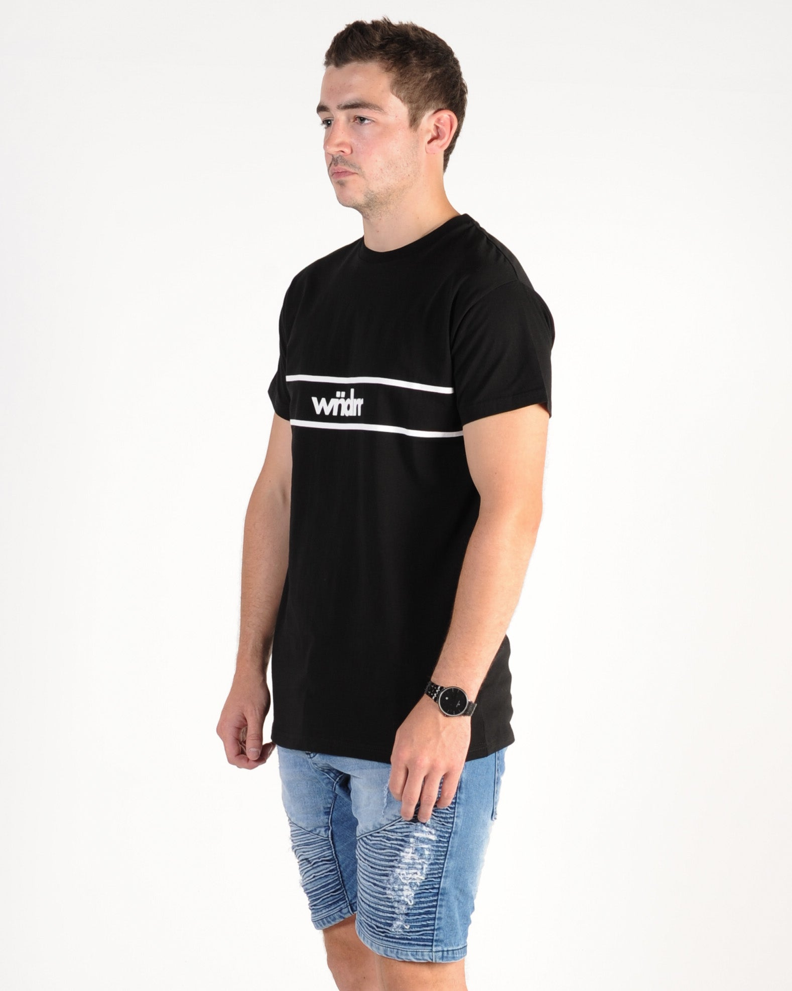 Wndrr District Custom Fit Tee - Black