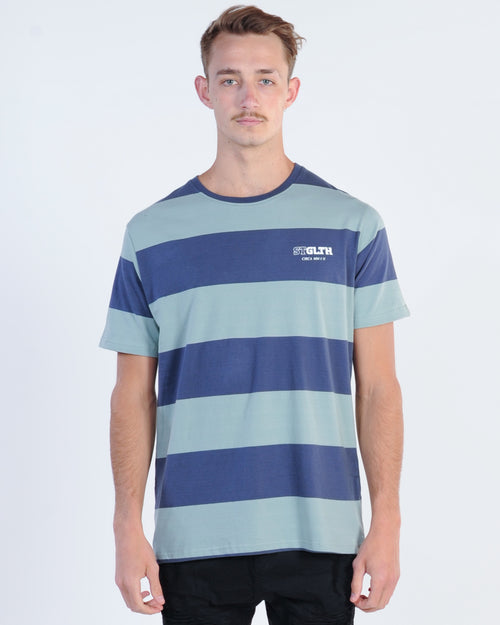 St. Goliath Onyx Stripe Tee - Green/Navy