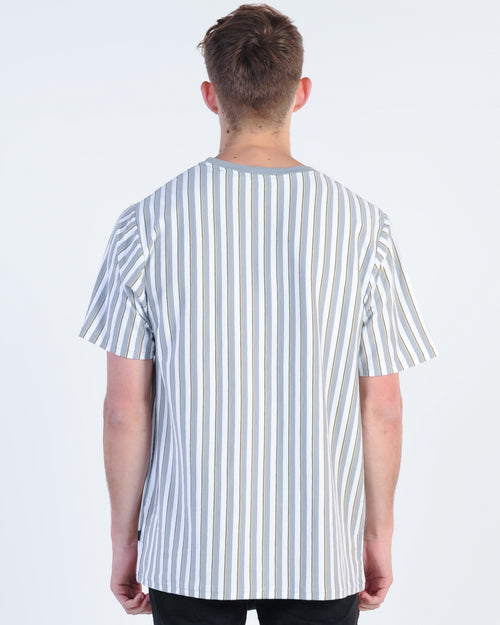 Silent Theory Parrallel Vert Stripe Tee - Sand