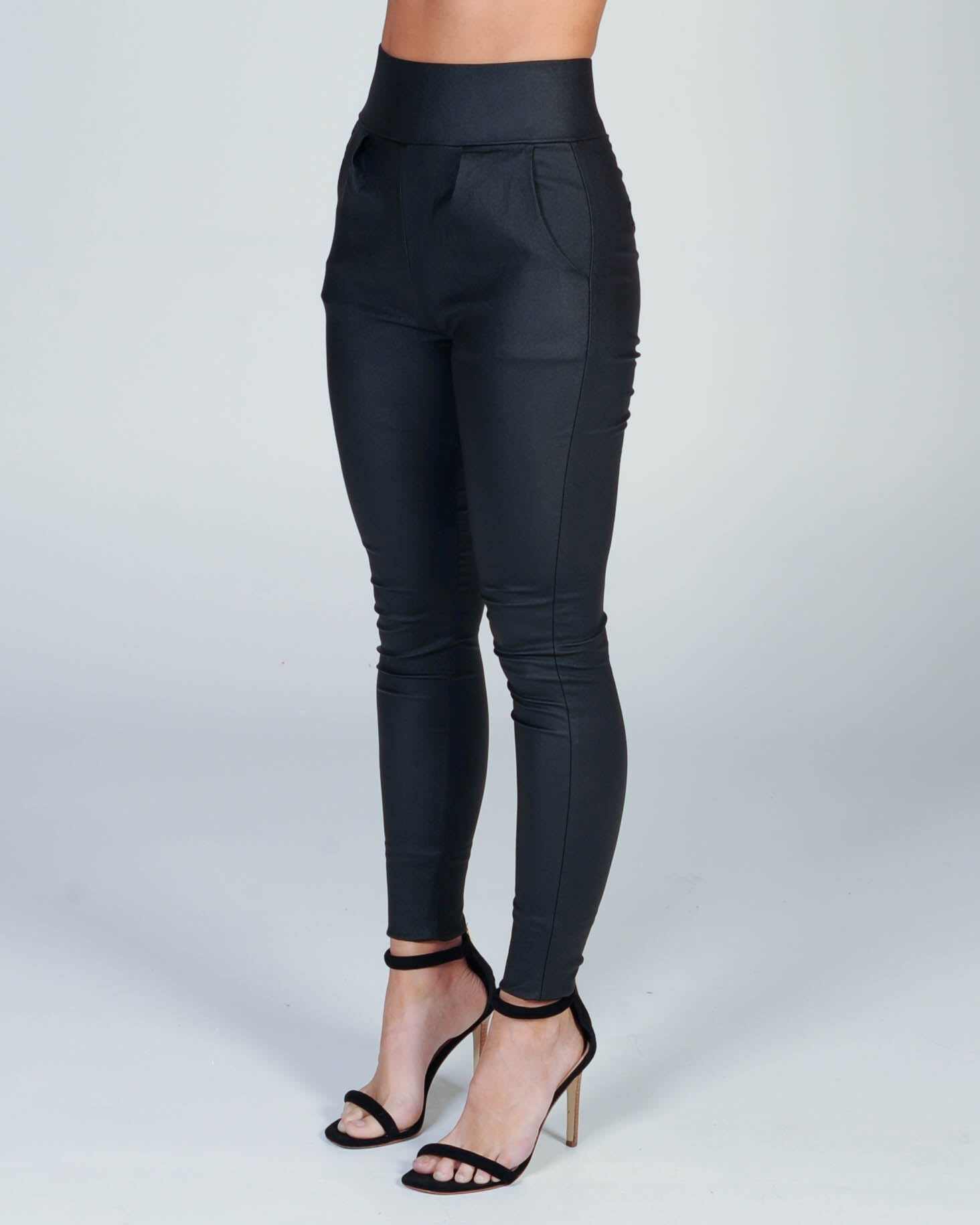 After Dark Wetlook Pant - Black