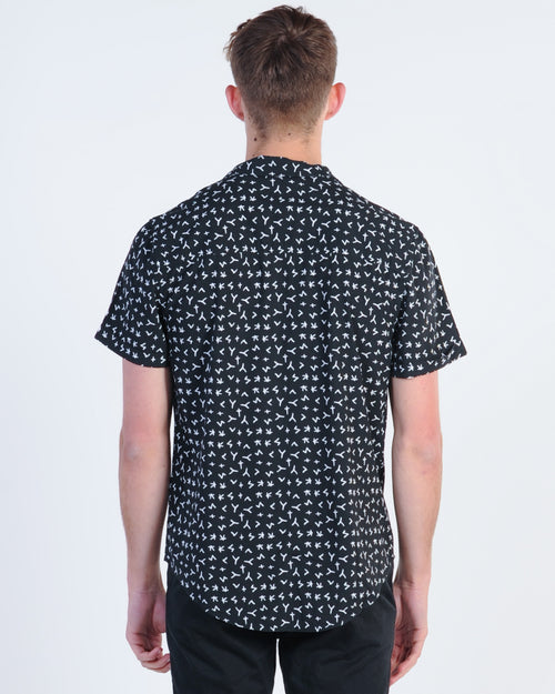 Kiss Chacey Pronounce Print S/S Shirt - Black