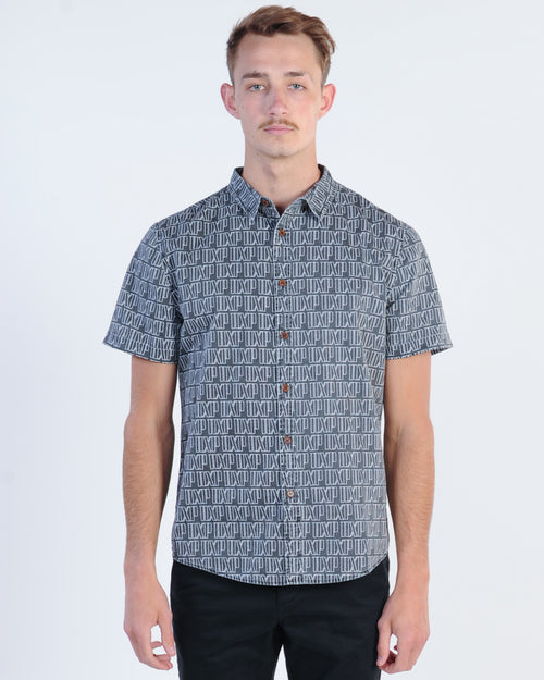 Nena & Pasadena Ultra Light Print S/S Shirt - Black/White