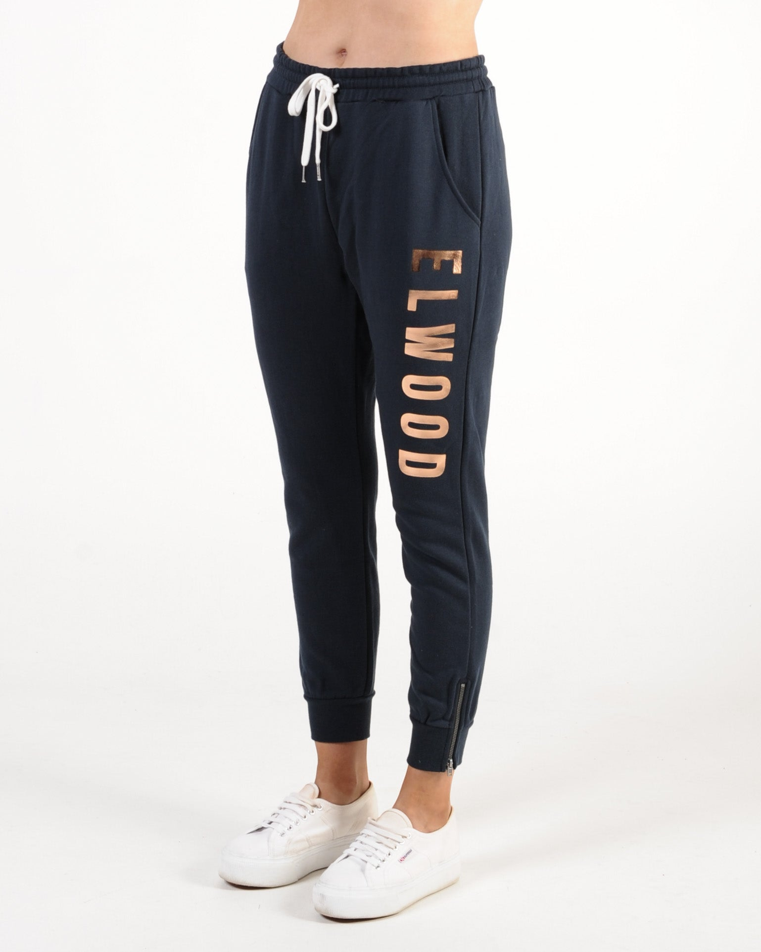 Elwood Huff N Puff Trackpant - Navy/Gold