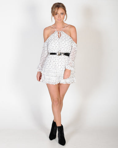 UNPREDICTABLE PLAYSUIT - BLACK SPOT