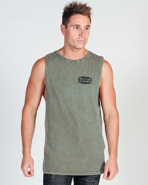 DTB SUPPLY CUSTOM MUSCLE TOP - MOSS STONE