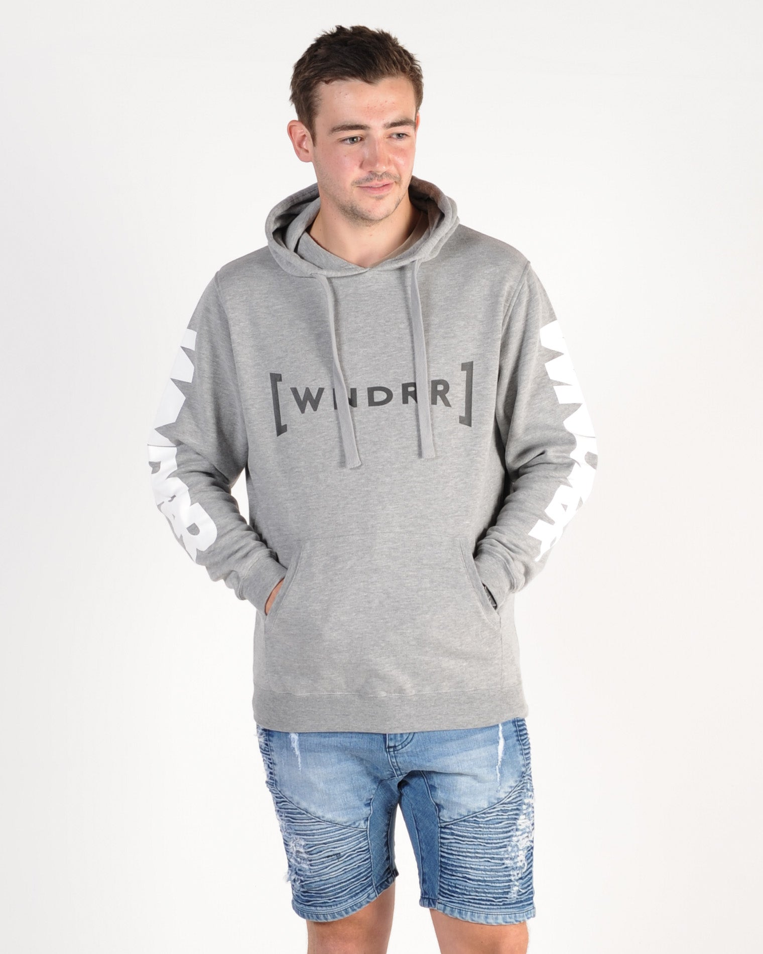 Wndrr Force Hood Sweat - Grey Marle