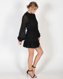 BONNIE L/S DRESS - BLACK
