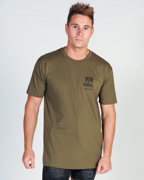 DTB SUPPLY ROAD RUNNER TEE - ARMY