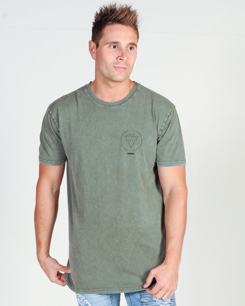 DTB SUPPLY RIVAL TEE - MOSS STONE