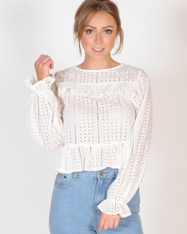 MYSTERY SOLVED TOP - WHITE
