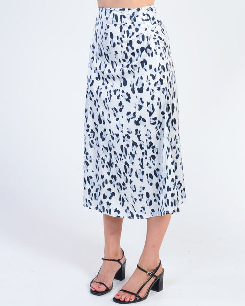 Night Fall Midi Skirt - Blue Leopard