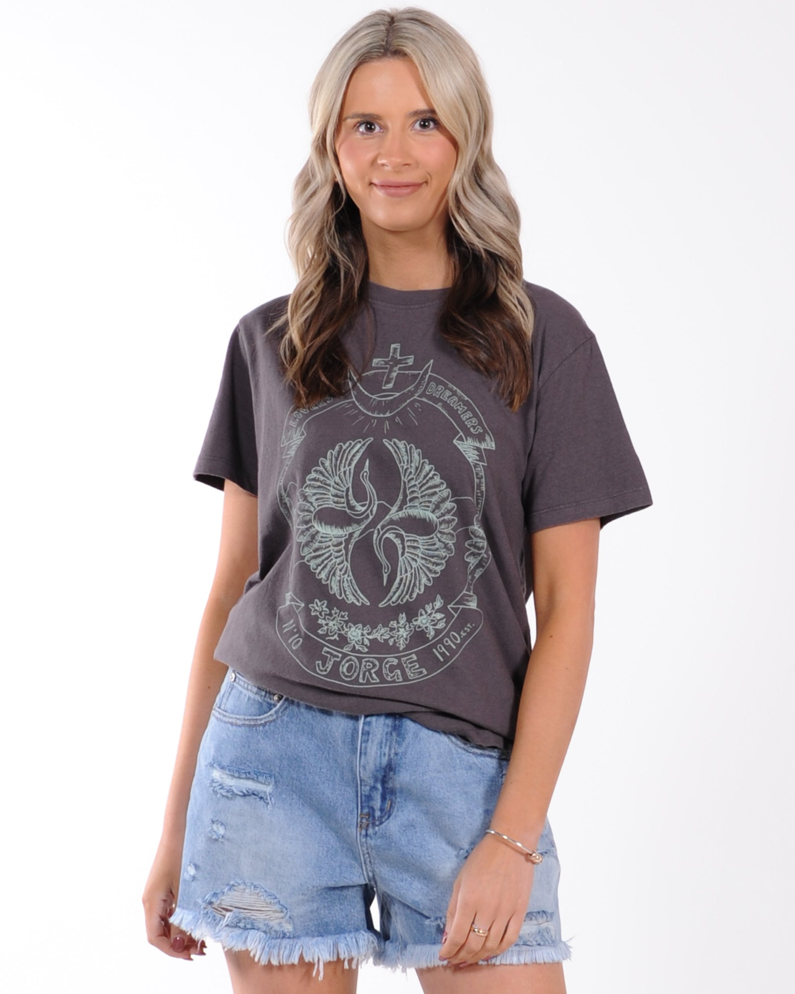 Jorge Songbird Tee - Washed Black