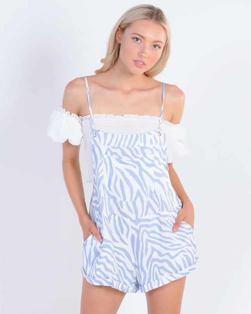 Leader Of The Pack Playsuit - Blue Animal