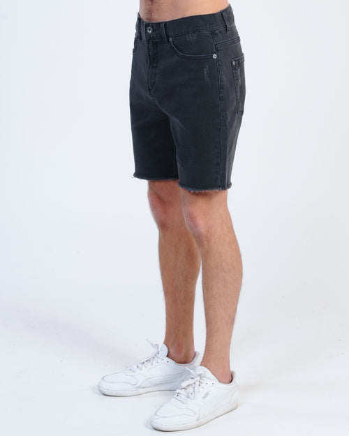 Rvca Rockers Denim Short - Black Fade