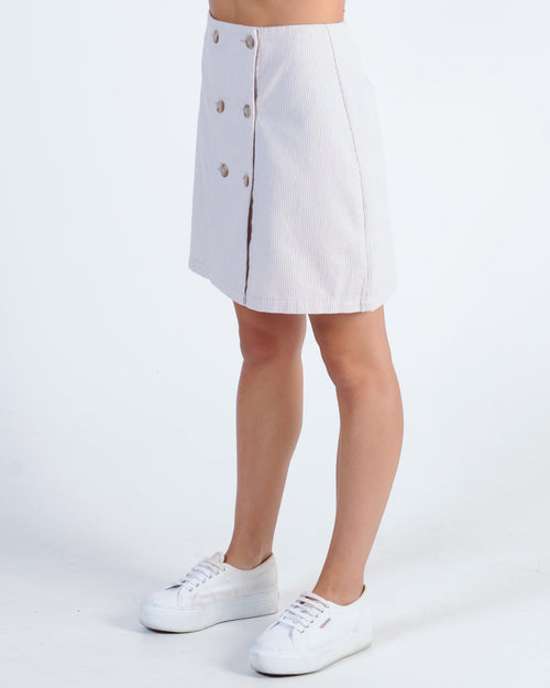 The Fifth Label Billie Stripe Skirt - Sand/White