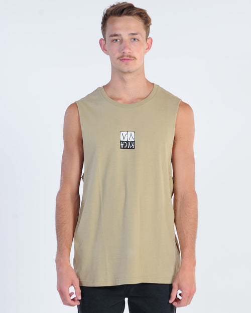 Rvca Unplugged Muscle Top - Dust Yellow