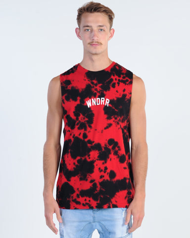Wndrr Ministry Muscle Top - Red