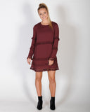 HANDLE MY TRUTH DRESS - BURGANDY
