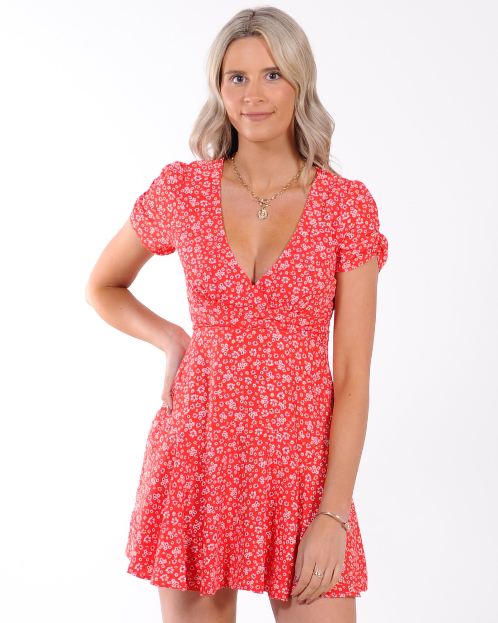 A New Chapter Floral Dress - Red