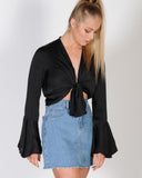 TREND CHASER TOP - BLACK