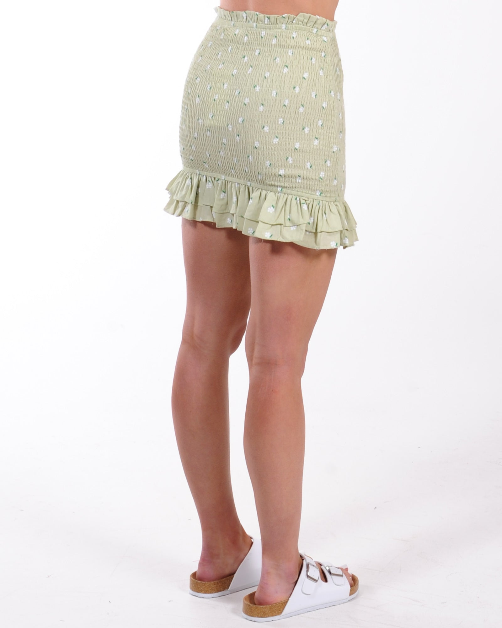 Escape Reality Mini Skirt - Sage