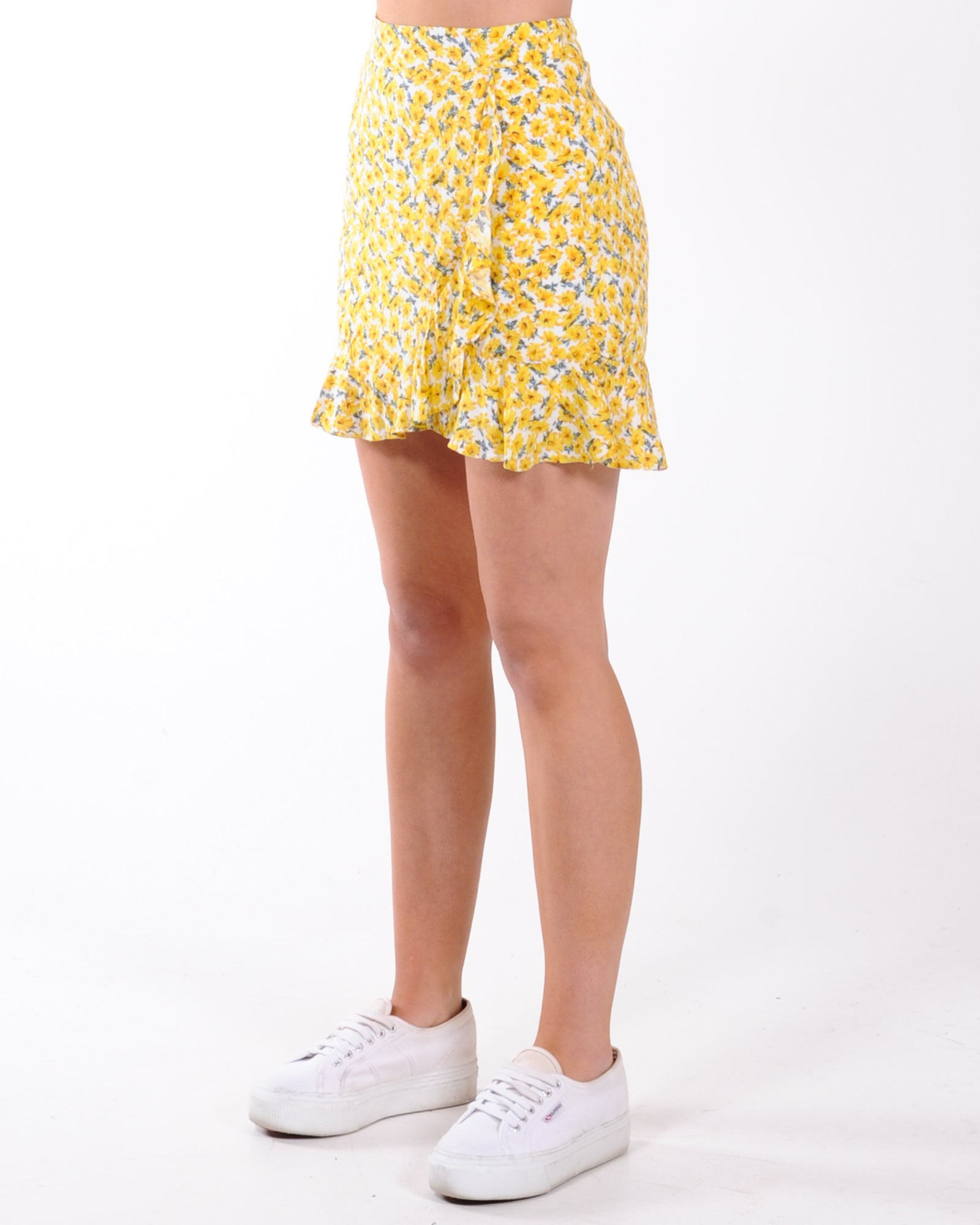 Sunflower Fields Skirt - Yellow