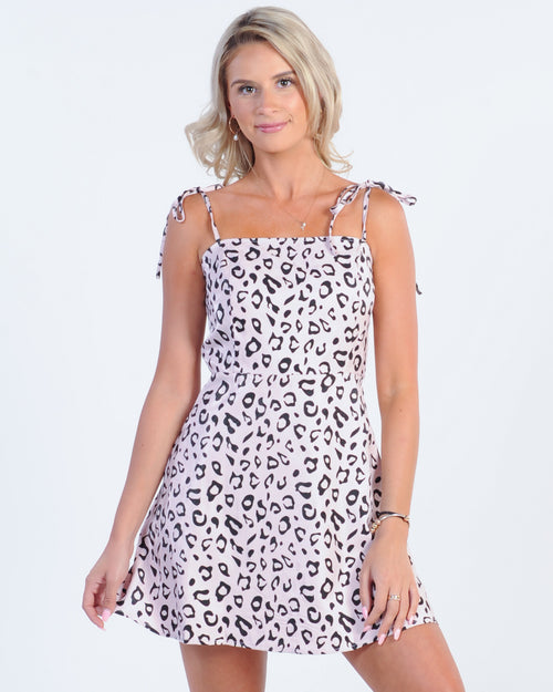 Holiday Mode Dress - Leopard