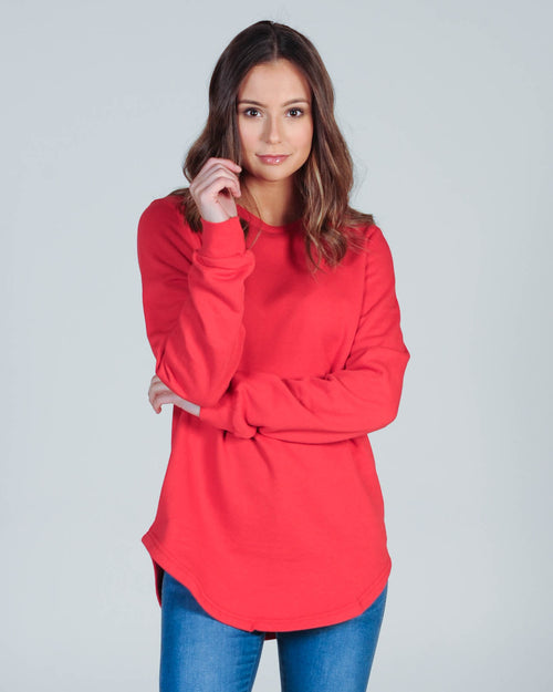 Silent Theory Classic Crew Sweat - Red
