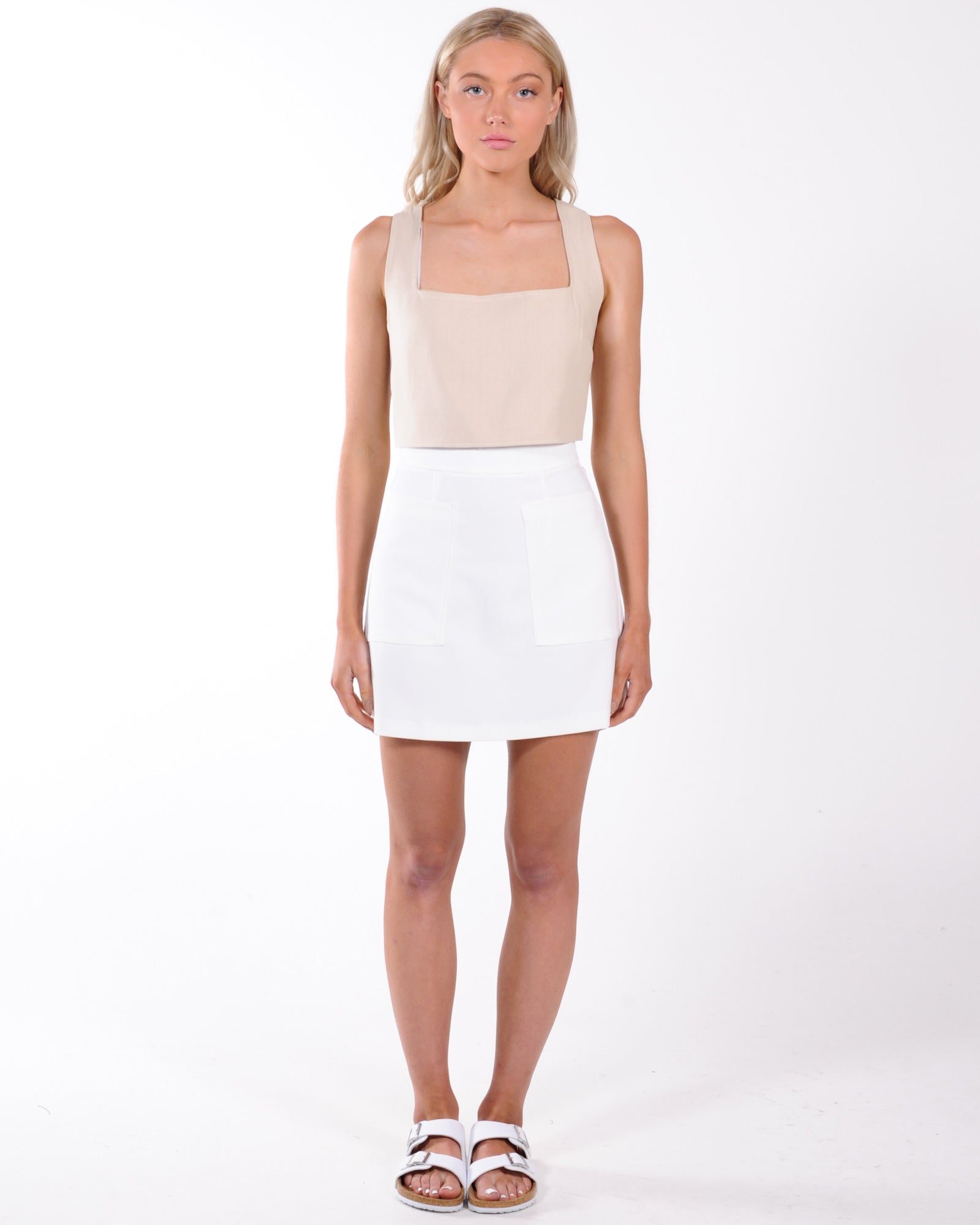 Vacation Mini Skirt - White