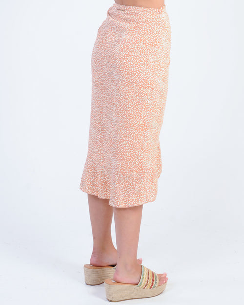 Breaking Hearts Midi Skirt - Peach