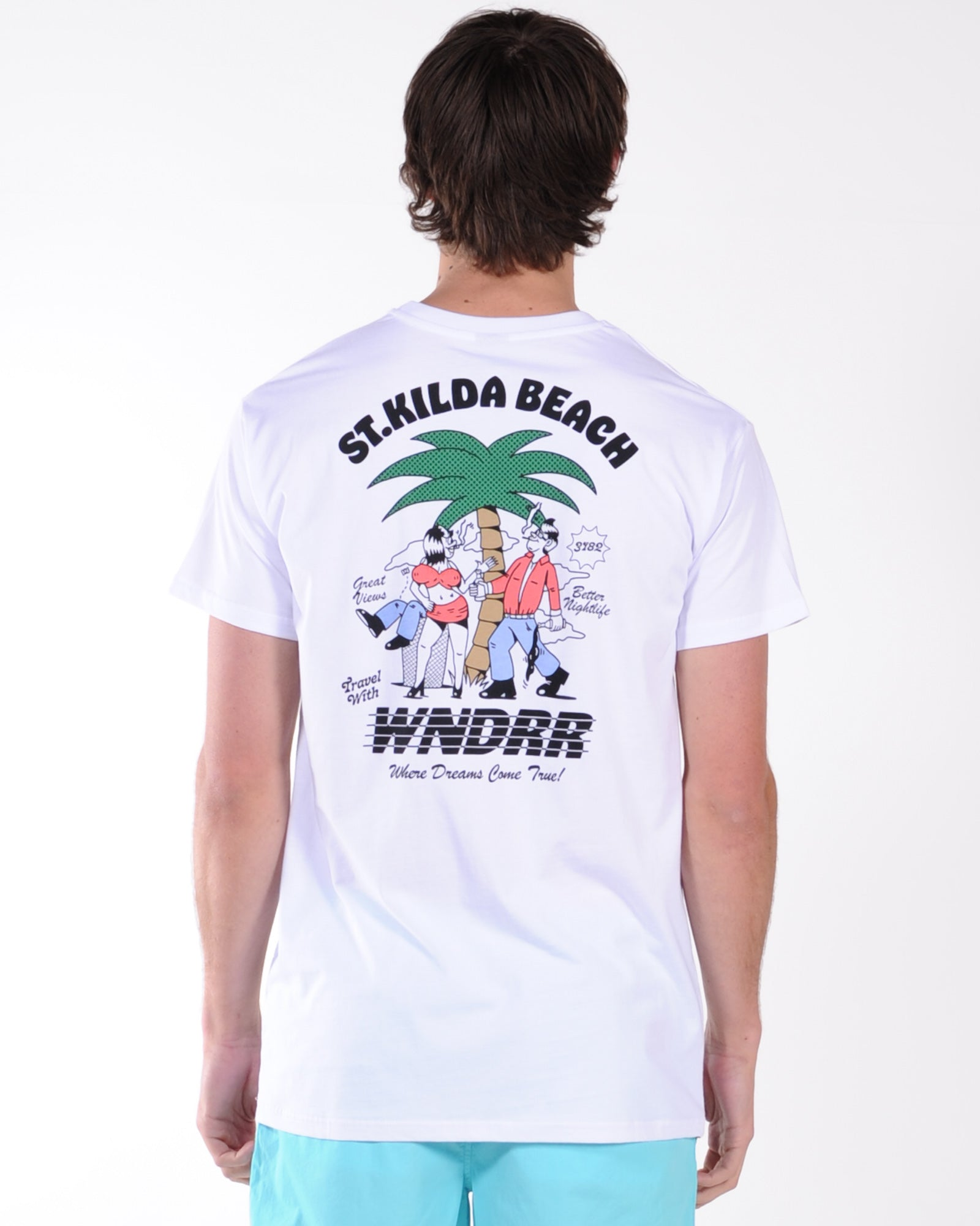 Wndrr St. Kilda Beach Custom Fit Tee - White