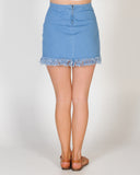 JOYRIDE DENIM SKIRT - BLUE DENIM