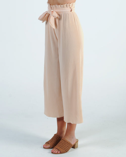 Promise Made Pleated Pant - Nude