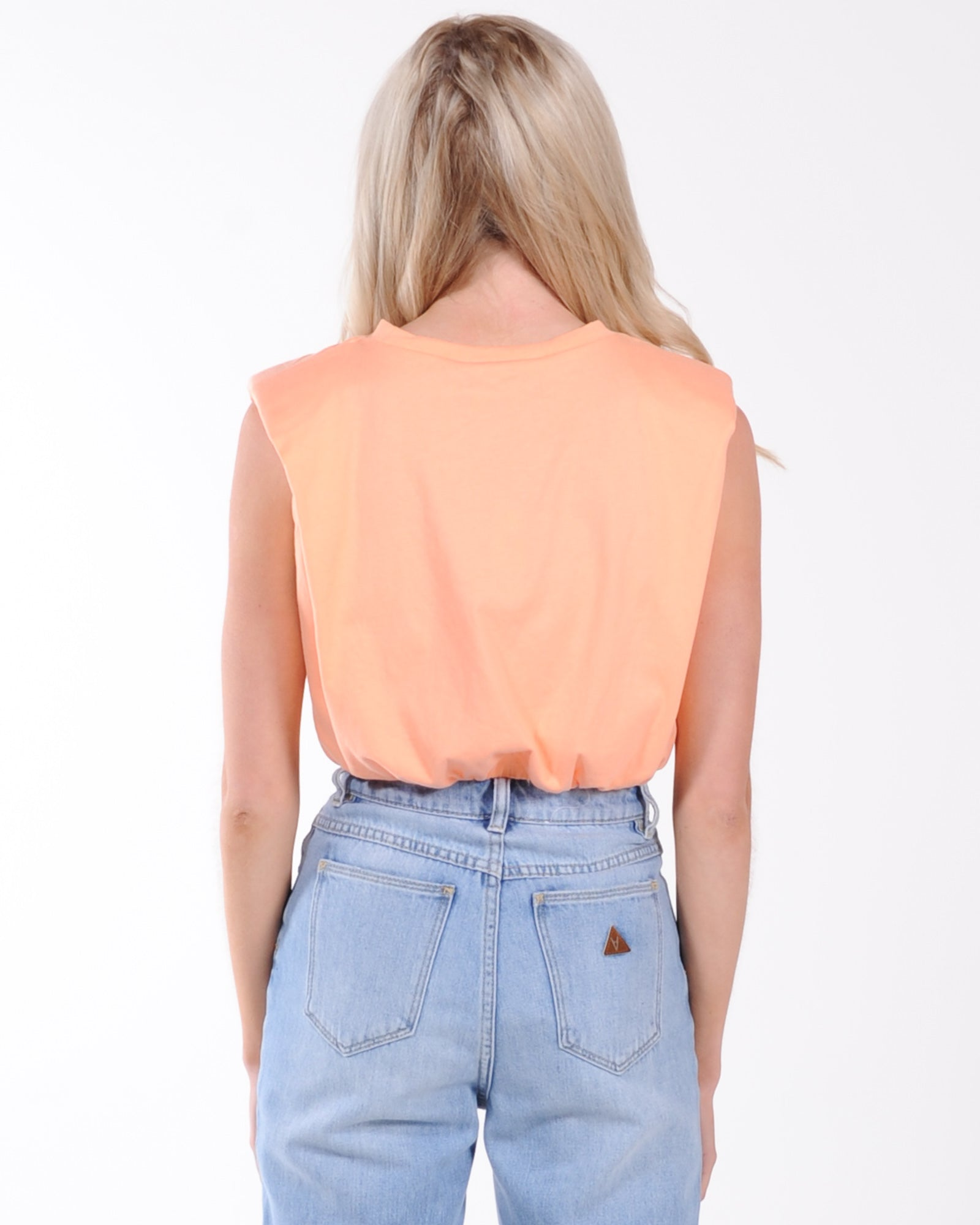 By Dylan Ryan Cropped Tank - Peach
