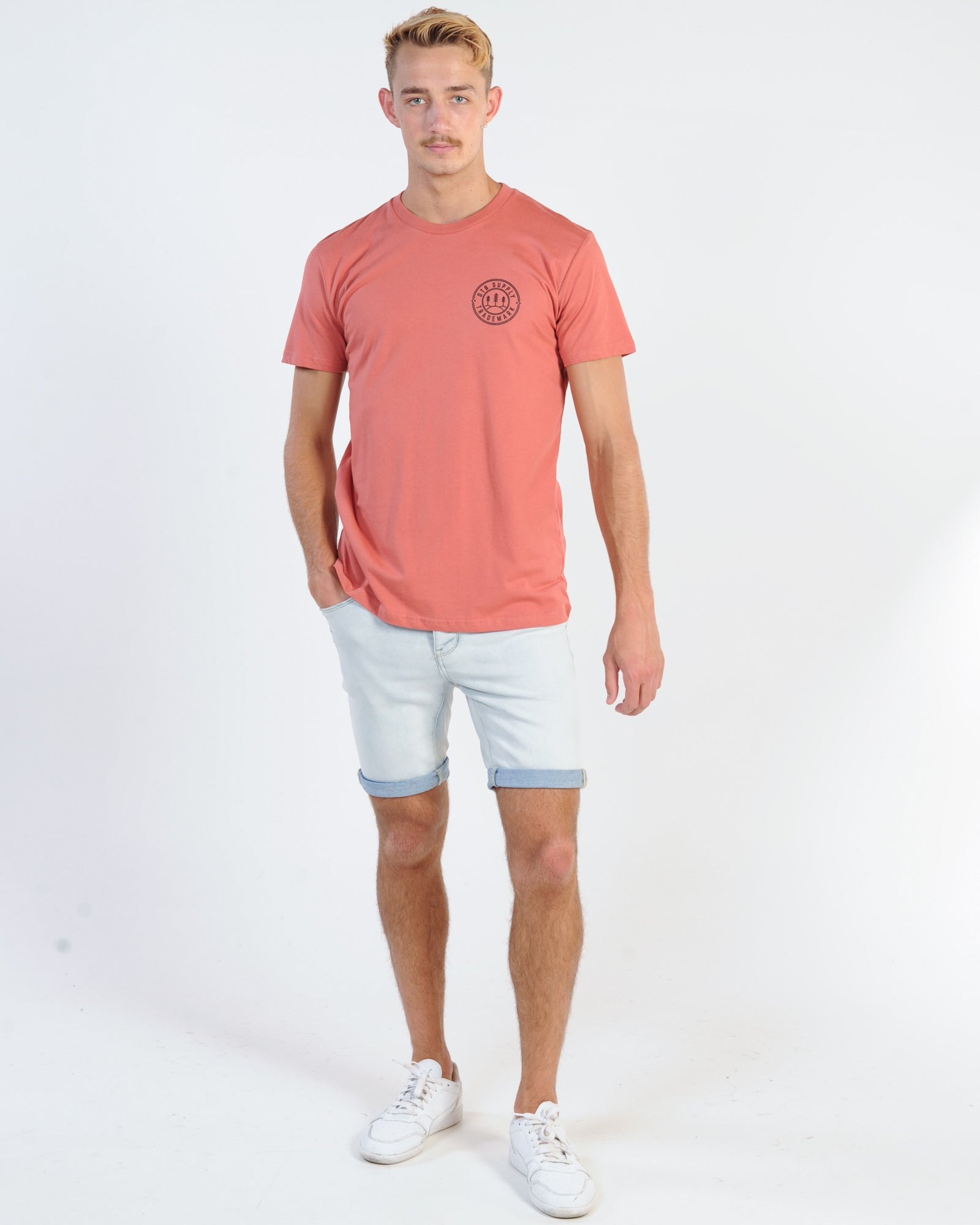 Dtb Supply Woods Tee - Coral