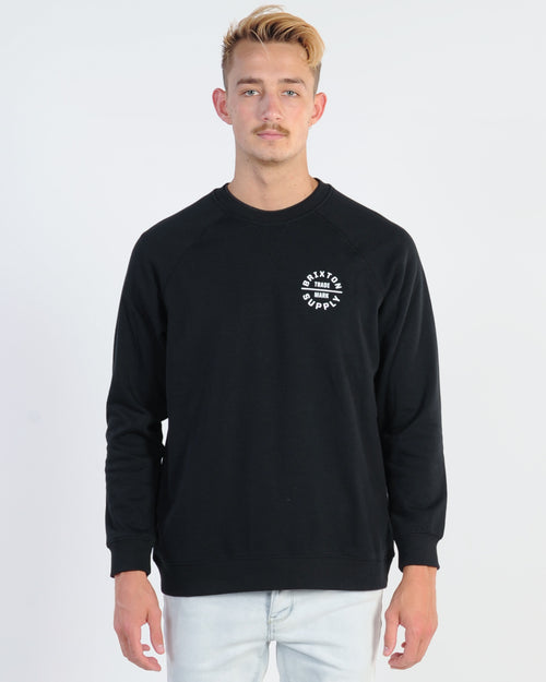 Brixton Oath V Crew Sweat - Black