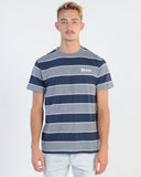 VERTIGO TOP - BLUE STRIPE