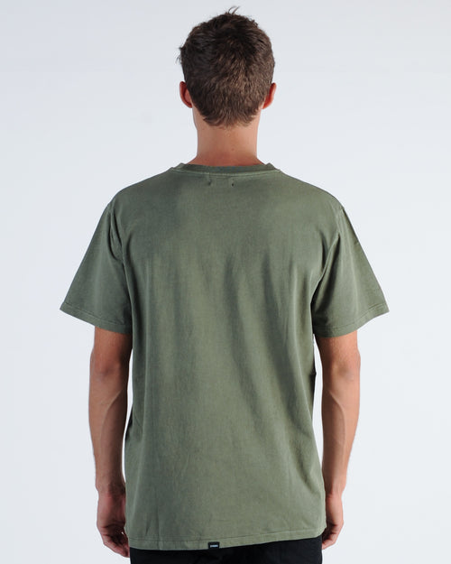 Thrills Courier Tee - Army Green